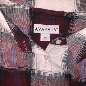 AVA & VIV Button down Shirt plaid